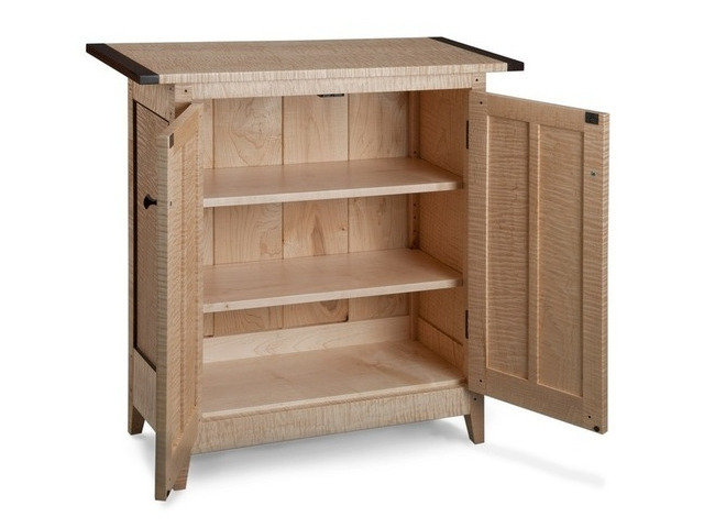 Picture of Tiger Maple Side Cabinet