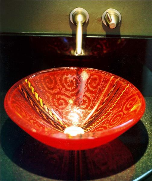 Picture of Red Venetian Sink