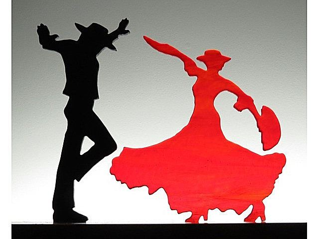 Picture of Flamenco I Glasscape Lighting Sculpture