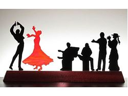 Picture of Flamenco II Glasscape Lighting Sculpture