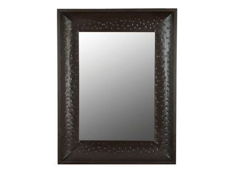 Large Hammered Metal Mirror Frame