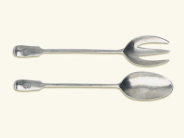 Picture of Antique Serving Fork and Spoon Set