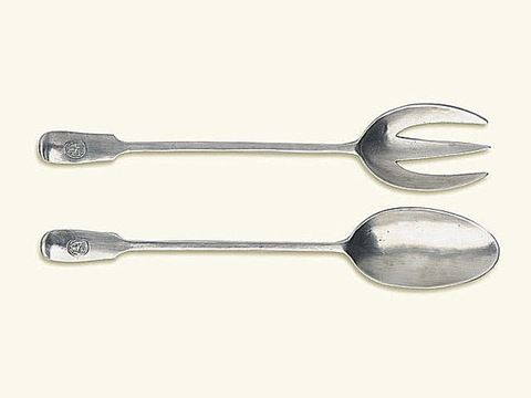 Antique Serving Fork and Spoon Set