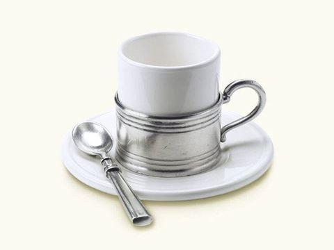 Espresso Cup with Ceramic Saucer