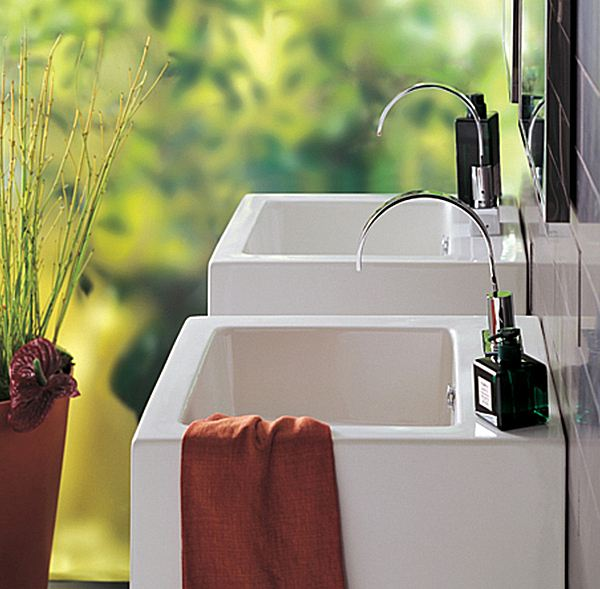 Picture of Bissonnet Ice 43 Wall-Mount or Vessel Ceramic Sink