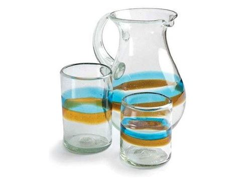 Cortez Tumblers and Pitcher