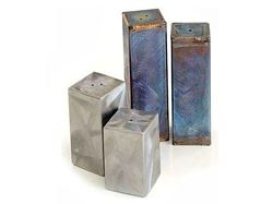 Square Stainless Steel Salt and Pepper Shakers