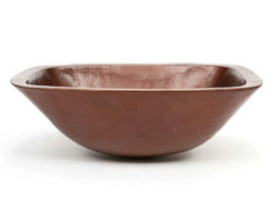 "17"" Rectangular Ovoid Copper Vessel Sink by SoLuna"