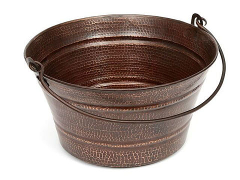 "16"" Bucket Copper Vessel Sink by SoLuna"