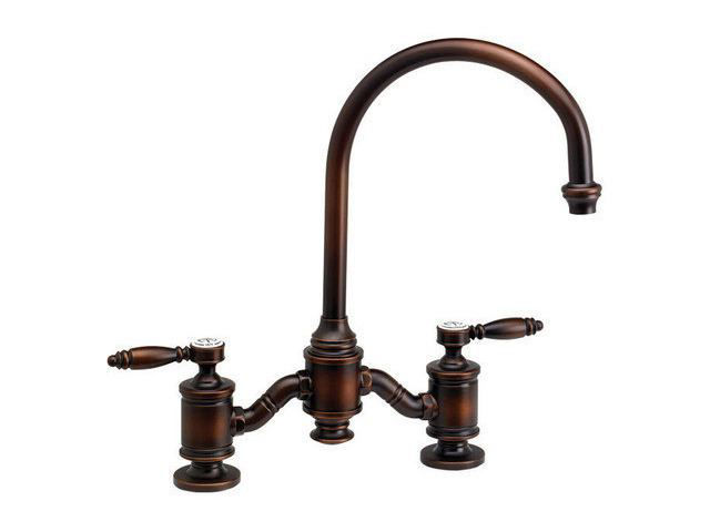 Picture of Waterstone Hampton Bridge Kitchen Faucet - Lever Handles
