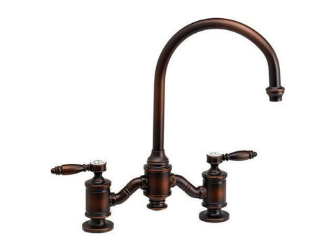 Waterstone Hampton Bridge Kitchen Faucet - Lever Handles