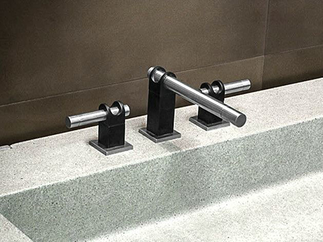 Picture of Sonoma Forge   Bathroom Faucet   Strap Widespread   Deck Mount
