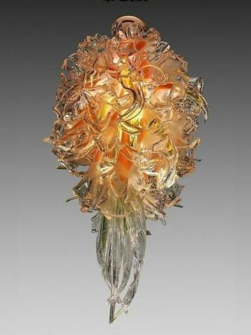Abadin Blown Glass Chandelier