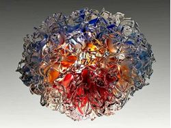 Picture of Arctic Fire Blown Glass Chandelier