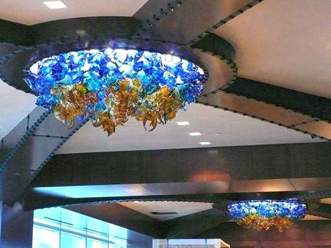 Aurora Custom Blown Glass Chandelier