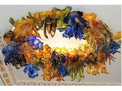 Botanica Custom Blown Glass Chandelier