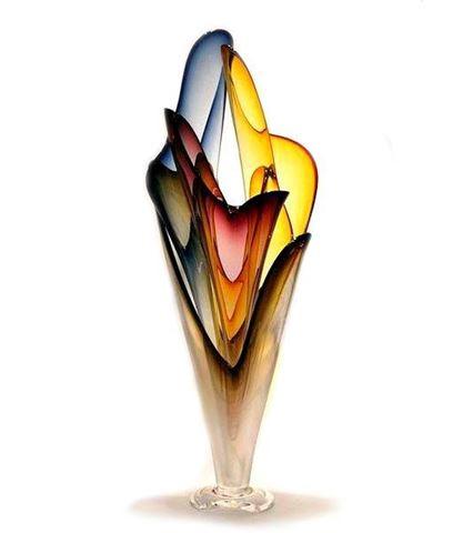 Wave Set Blown Glass Sculpture