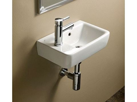 Bissonnet Comprimo 40/50 Italian Ceramic Sink with Left-Side Faucet