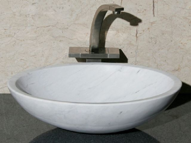 "Picture of 18"" Oval Stone Vessel Sink"