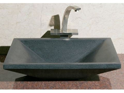 Rectangular Stone Vessel Sink