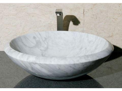 """17"""" Round Stone Vessel Sink"""