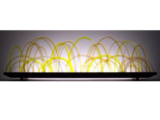 Picture of Citrine Glasscape Lighting Sculpture