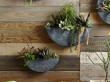 Picture of Orbea XL Half-Circle Zinc Wall Planters