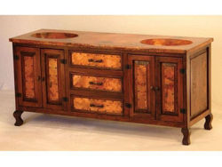 Picture of Rio Hermoso Wood and Copper Vanity