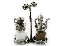 Tea Set Salt and Pepper Shakers