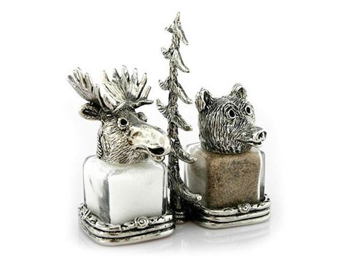 Forest Friends Moose and Bear Salt and Pepper Shakers