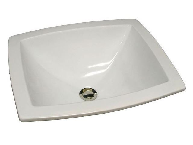 "Picture of 19"" Rectangular X-Shaped Basin Sink by Marzi"