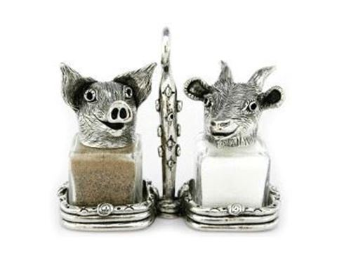 Pig and Goat Salt and Pepper Shakers Set
