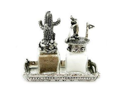 Golfer and Cactus Salt and Pepper Shakers Set