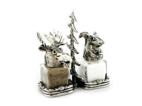 Moose and Squirrel Salt and Pepper Shakers Set