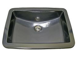 Picture of Marzi Hand-Painted Antique Silver Rectangular Bath Sink with Flat Rim