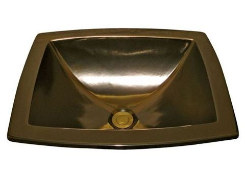 Marzi Drop-in Sink with Hand-Painted Bronze Glaze Finish