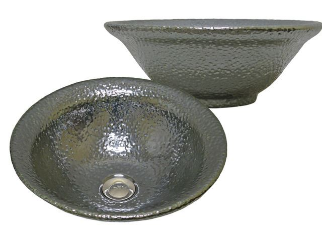 Picture of Marzi Antique Silver Finish Hammered Vessel Bath Sink