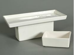 Rectangular Pedestal and Gourmet Serving Dish by Alex Marshall Studios