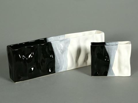 Ripple Rectangular Vases by Alex Marshall Studios
