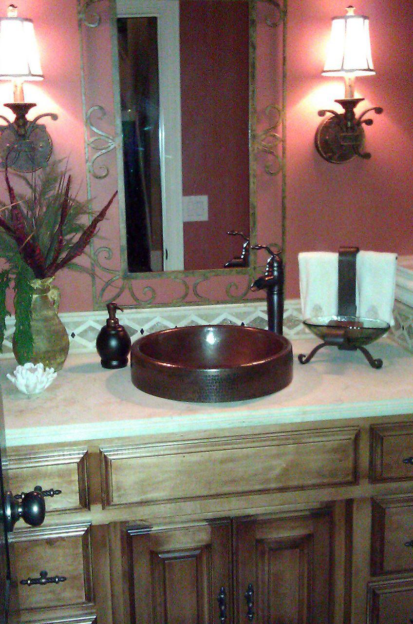 """18"""" Oval Prescenio Copper Vessel Sink by SoLuna"""