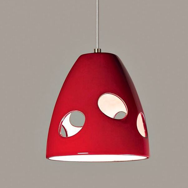 Picture of A19 Ceramic Pendant Light | Milano Red