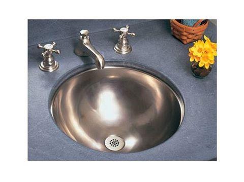"""Siletz 15"""" Round Metal Bathroom Sink"""