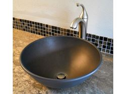 "Picture of Nehalem 16"" Round Metal Vessel Sink"