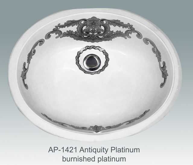 Picture of Hand Painted Sink - Antiquity