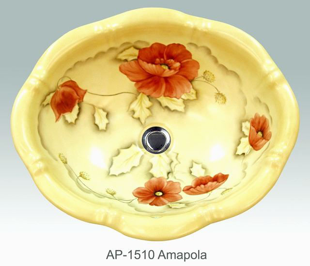 Picture of Hand Painted Sink - Atlantis Amapola