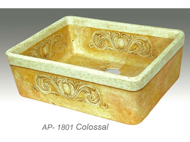 Picture of Colossal Design on Single Well Fireclay Farmhouse Sink