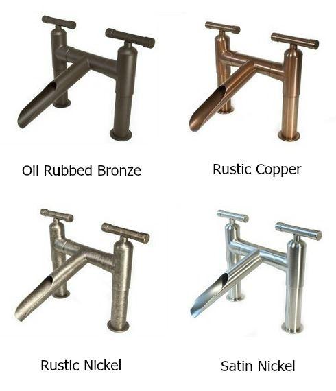 Picture of Sonoma Forge | Bathroom Faucet | Brut with Short Cap Spout | Deck Mount
