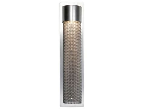 Tall Round Mesh Outdoor Cover Sconce