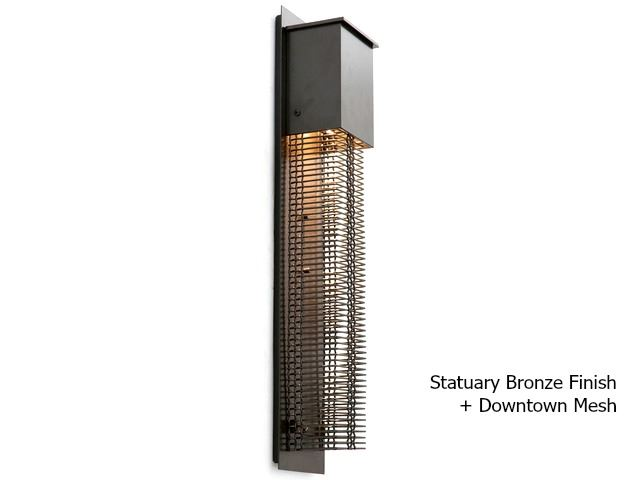 Picture of Tall Square Mesh Outdoor Cover Sconce