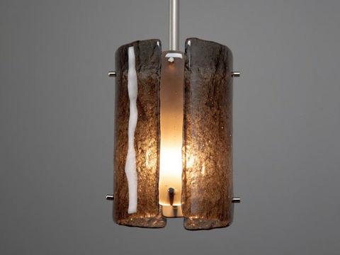"Pendant Light   Textured Glass   8"""
